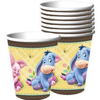 Pooh Baby Days Baby Shower Paper Cups 8ct