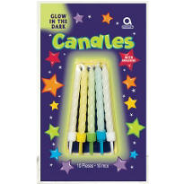 Glow in the Dark Birthday Candles 2in 12ct