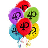 The Party Continues 40th Birthday Balloons 15ct