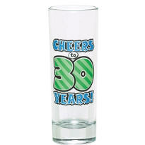 30th Birthday Tall Shot Glass