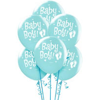 Baby Boy Blue Balloons 12in 15ct