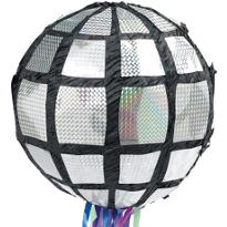Pull String Disco Ball Pinata 12in