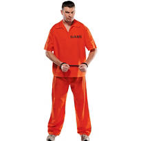 Adult Jail Bird Prisoner Costume