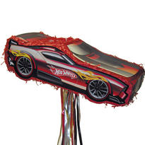 Pull String Hot Wheels Race Car Pinata