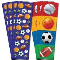 Play Ball Metallic Stickers 8 Sheets