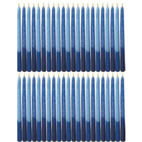 Frosted Blue Hanukkah Candles 4in 45ct