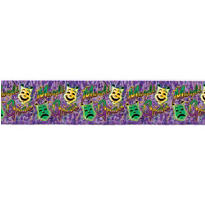 Mardi Gras Metallic Banner 4ft