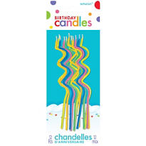 Skinny Coil Birthday Candles 5in 12ct