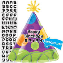 Party Hat Balloon - Personalized