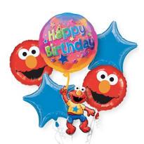 Happy Birthday Elmo Balloon Bouquet 5pc