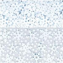 Blue Snowflake Confetti