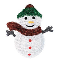 Tinsel Snowman Wreath 19in