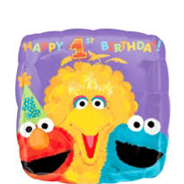 1st Birthday Sesame Street Balloon