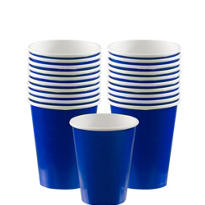 Royal Blue Paper Cups 20ct
