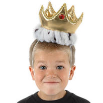 Child Plush Gold Crown