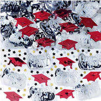 Metallic Red Graduation Confetti 2 1/2oz