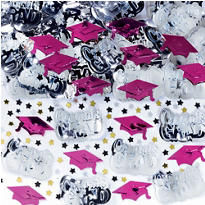 Metallic Berry Graduation Confetti 2 1/2oz