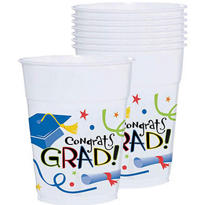 Congrats Grad Graduation Cups 14oz 40ct