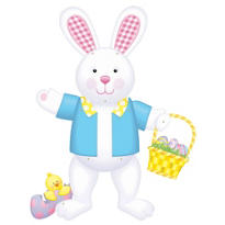Jointed Easter Bunny Cutout 36in