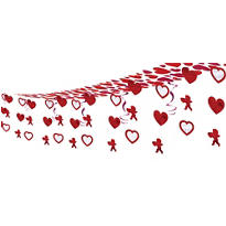 Hearts and Cupids Ceiling Decoration 12ft