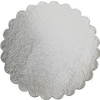 Silver 16in Round Cardboard Platter