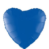 Foil Blue Heart Balloon 18in