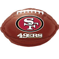 San Francisco 49ers Foil Balloon 18in