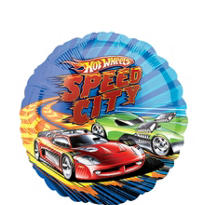Foil Hot Wheels Balloon 18in