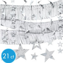 Silver Foil Decorating Kit 21pc
