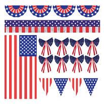 Patriotic Outdoor Decorating Kit 12pc