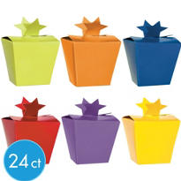 Multicolor Star Closure Favor Boxes 24ct