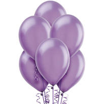 Lavender Pearlized Latex Balloons 12in 72ct