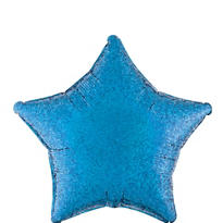 Foil Prismatic Blue Star Balloon 19in