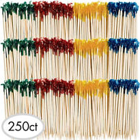 Party Frill Wooden Picks 250ct