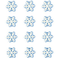 Snowflake Icing Decorations 12ct