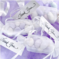 White Wrapper Wedding Favor Kit 12ct