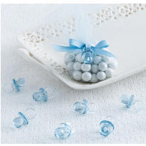Blue Pacifier Baby Shower Favor Charms 24ct