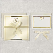 Wedding Ring Square Printable Wedding Invitations Kit 25ct