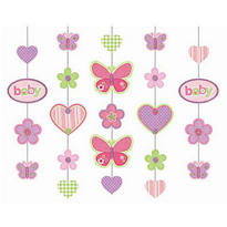 Carter Baby Girl Hanging Glitter Decoration 36in 5ct