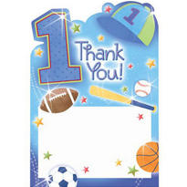 All Star 1st Birthday Thank You Notes 20ct