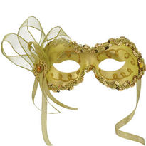 Gold Angelina Masquerade Mask