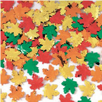 Maple Leaf Metallic Confetti