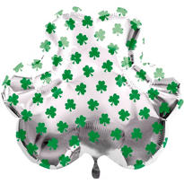 Foil Shamrocks St. Patricks Day Balloon 22in