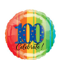 100th Birthday Balloon - A Year to Celebrate