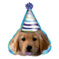 Foil Party Puppy Birthday Balloon 24in