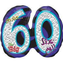 60th Birthday Balloon - Giant Oh No!