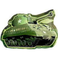 Camouflage Birthday Balloon - Tank