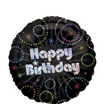 Foil A Time to Party Prismatic Happy Birthday Balloon 18in
