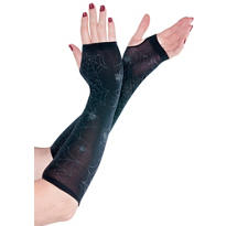 Black Spider Web Arm Warmers