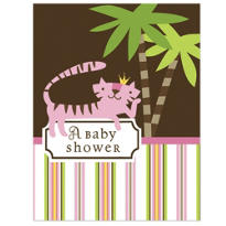 Queen of the Jungle Baby Shower Invitations 8ct
